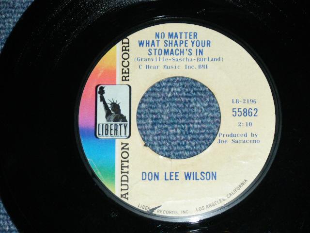 画像1: DON LEE WILSON -  NO MATTER WHAT SHAPE YOUR STOMACH'S IN ( FULL CREDIT PRINTING TITLE TYPE ) / ANGEL   1966  US ORIGINAL Audition Promo 7 Single