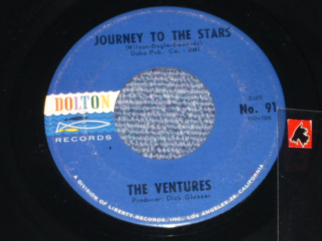 画像1: JOURNEY TO THE STARS / WALKIN' WITH PLUTO   Dark BlueWith Black Print Label