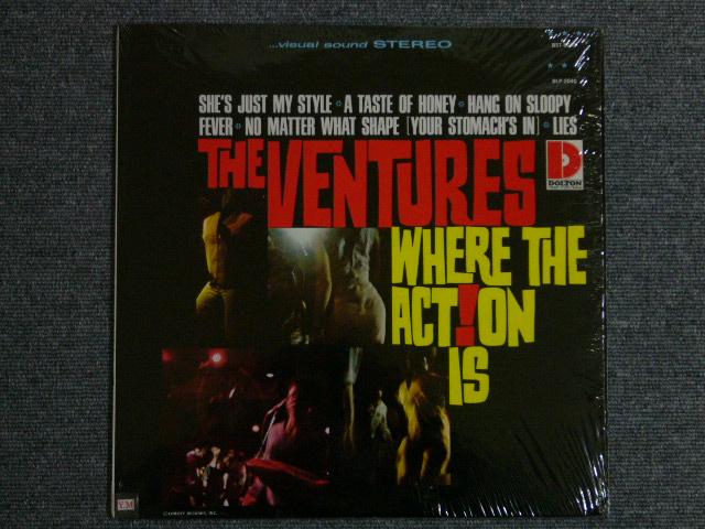 画像1: WHERE THE ACTION IS Dark Blue With/Silver Print Label