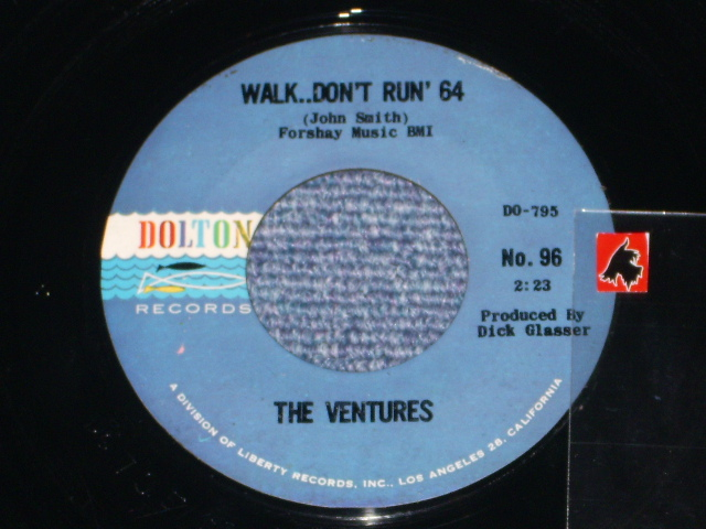 画像1:  WALK, DON'T RUN '64 / THE CRUEL SEA    Dark Blue With Black Print Label