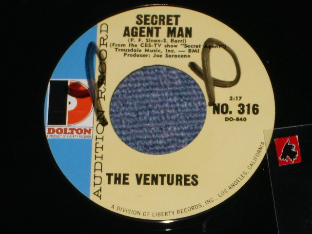 画像1: SECRET AGENT MAN / 007-11  Audition Label