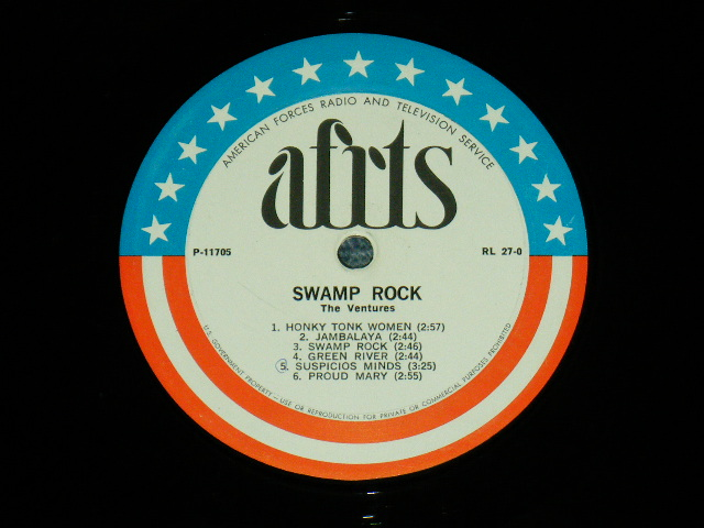 画像1: THE VENTURES SIDE :  SWAMP ROCK / Another Side :  CHET ATKINS - SOLID GOLD '69    US ARMED  FORCE RADIO SHOW