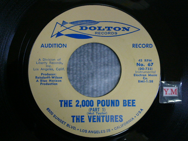 画像1: THE 2,000 POUND BEE Pt.1 / THE 2,000 POUND BEE Pt.2 Audition Label