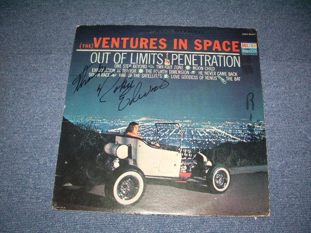 画像1: (THE)VENTURES IN SPACE With  NOKIE'S AUTOGRAPHED SIGNED   BLUE W/SILVER PRINT LABEL