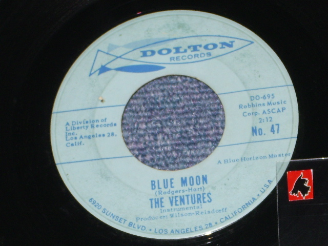 画像1: BLUE MOON / LADY OF SPAIN   Light Blue Label  With 2 HORIZON LINE
