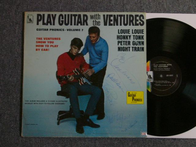 画像1: PLAY GUITAR WITH THE VENTURES GUITAR PHONICS・Volume 7 Liberty Label With 4 MEMBERS AUTOGRAPHED SIGNED
