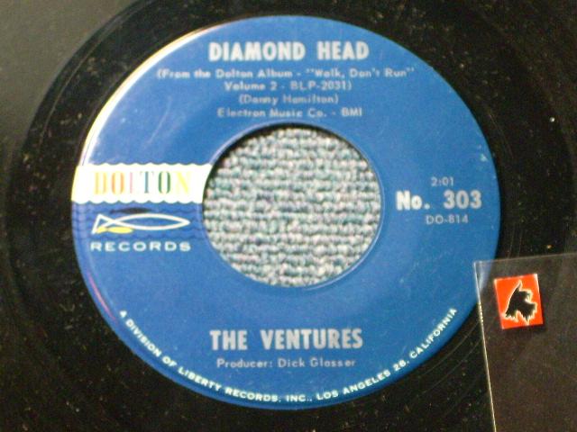画像1: DIAMOND HEAD / LONELY GIRL   Dark Blue With Silver Print Label