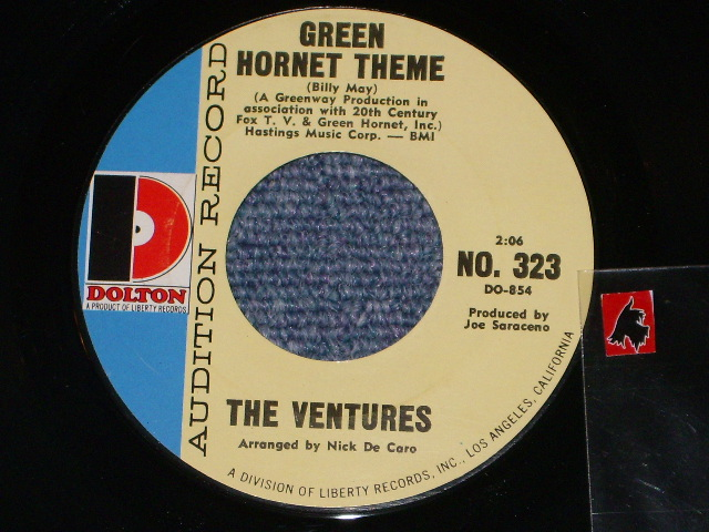 画像1: GREEN HORNET THEME / FUZZY AND WILD   Audition Label
